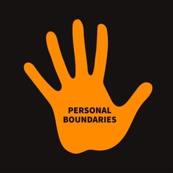 Having a conversation to assert your boundaries. image